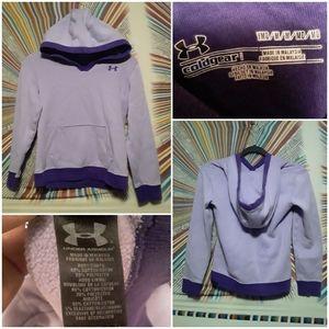 Under Armour Girld Medium Purple Hoody Sweatshirt